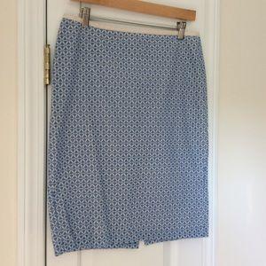 Talbots Blue/White Eyelet Skirt Size 6